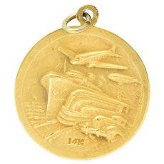 1933 World's Fair 14 Karat Gold Pendant