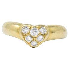 Tiffany & Co. 0.25 CTW Diamond And 18 Karat Gold Heart Ring