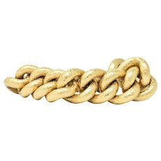 Contemporary 18K Gold Link Bracelet
