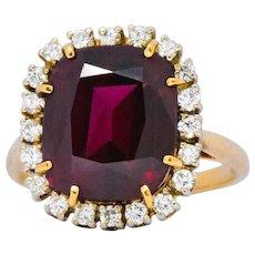 J.E. Caldwell 6.30 CTW Rubellite Diamond 14 Karat Gold Cocktail Ring