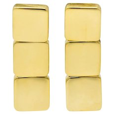 Tiffany & Co. Italy 18 Karat Gold Vintage Earrings