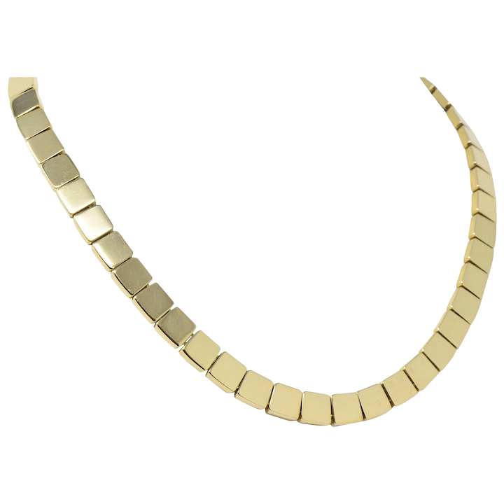 5858e4e3a Tiffany & Co. Italy 18 Karat Gold Necklace : Wilson's Estate Jewelry | Ruby  Lane