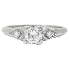 Art Deco 0.55 CTW Diamond Platinum Engagement Ring