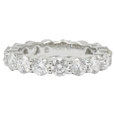 3.56 CTW Diamond Platinum Eternity Band Stackable Ring