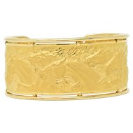Carrera Y Carrera 18 Karat Gold Cuff Ecuestre Matte Horse Bracelet