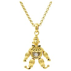 Chopard Happy Diamond Clown 18K Yellow Gold Pendant Necklace