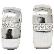 Mauboussin Paris 0.40 CTW Diamond 18 Karat White Gold Earrings