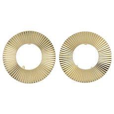 Tiffany & Co. Retro 14 Karat Gold Ear-Clips Earrings