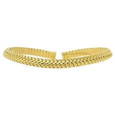 Tiffany & Co. 1997 18 Karat Gold Flexible Collar Necklace