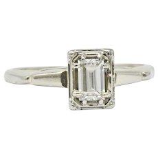 Art Deco 0.35 CTW Diamond 14 Karat White Gold Engagement Ring
