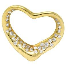 Elsa Peretti Tiffany & Co. 0.35 CTW Diamond 18 Karat Gold Pendant