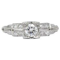 d3b0580b3 Jabel 0.40 CTW Diamond 18 Karat White Gold Engagement Ring. Wilson's Estate  Jewelry
