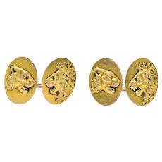 Victorian B.K. & Co. 14 Karat Gold Cufflinks