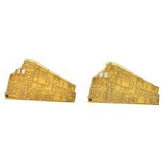 Cartier Retro Diamond 18 Karat Gold Locomotive Train Cufflinks