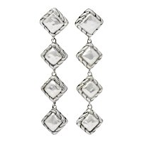 John Hardy Linear Dangle Chain Link Sterling Silver Earrings