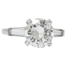 2.71 CTW Diamond Platinum Engagement Ring GIA