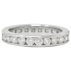 Contemporary 2.40 CTW Diamond Platinum Eternity Stackable Band Ring