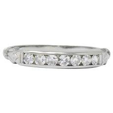 Art Deco 0.25 CTW Diamond 18 Karat White Gold Ring