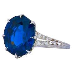 Belle Époque 6.78 CTW Sapphire Diamond Platinum Ring AGL