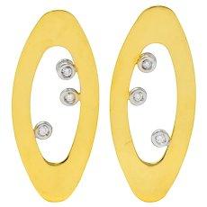 Roberto Coin Diamond Ruby 18 Karat Gold Contemporary Earrings