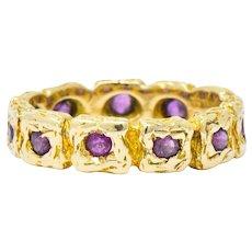 Tiffany & Co. 0.55 CTW Ruby 14 Karat Gold Band Ring