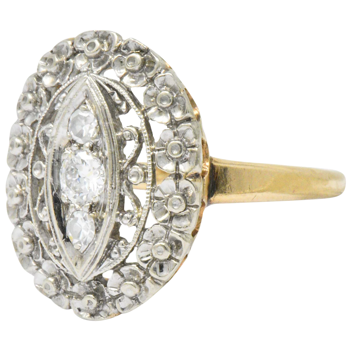 694d6d03a Edwardian Diamond Platinum-Topped 14 Karat Gold Ring : Wilson's Estate  Jewelry | Ruby Lane