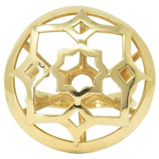 Paloma Picasso Tiffany & Co. 18 Karat Gold Zellige Statement Ring