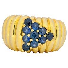 Jose Hess 1990's 1.25 CTW Sapphire 18 Karat Gold Ring