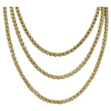 Victorian 15 Karat Gold Long Chain Necklace