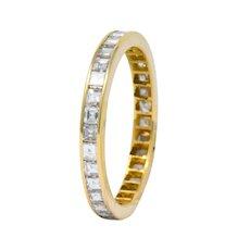 Modern 1.30 CTW Diamond 14 Karat Gold Eternity Band Ring