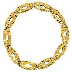 Cartier France 18 Karat Gold Link Bracelet