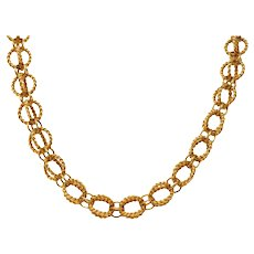 Schlumberger Tiffany & Co. 18 Karat Gold Circle Rope Necklace