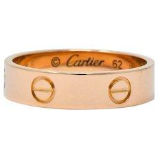 Cartier Love Vintage 18 Karat Rose Gold Band Ring