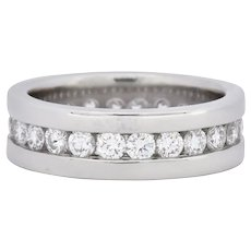 Simayof Modern 1.70 CTW Diamond Platinum Channel Eternity Band
