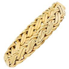 Tiffany & Co. 14 Karat Gold Woven Chain Bracelet Circa 1970