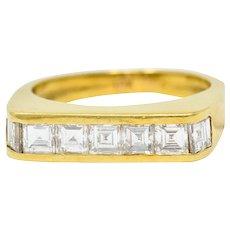 1960's Vintage 1.25 CTW 18 Karat Gold Stacking Band Ring