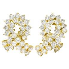 Vintage 6.80 CTW Diamond 18 Karat Gold Twist Earrings