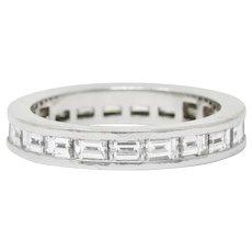 Tiffany & Co. 1.68 CTW Channel Set Diamond & Platinum Wedding Band