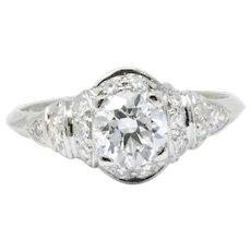 1.10 Carat Diamond & Platinum Engagement Ring Circa 1940