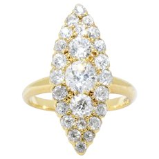 Tiffany & Co. 1.40 Carat Victorian Diamond & 18K Yellow Gold Ring