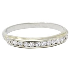 .20CTW Diamond & 14K White Gold Diamond Wedding Band Stackable Ring