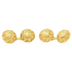 Tiffany & Co. 18K Yellow Gold Men's Swirl Cufflinks, Circa 1900