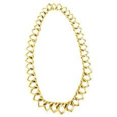 Van Cleef & Arpels 18K Yellow Gold Heart Necklace, Circa 1980's VCA
