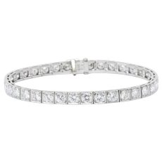 Waslikoff 7.20 Carat Diamond & Platinum Line Tennis Bracelet
