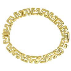 Tiffany & Co. 18K Yellow Gold Abstract Geometric Necklace