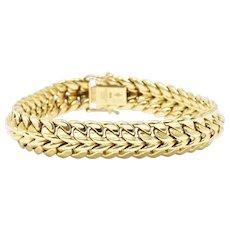 1970's Cartier 18K Yellow Gold Gold Unisex Bracelet, Swiss