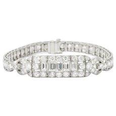 Art Deco 5.90CTW Diamond & Platinum Bracelet