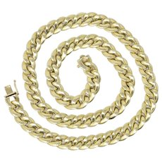 Tiffany & Co. 14K Curb Unisex Gold Necklace