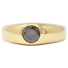 Handsome .65CTS Brown Diamond & 18K Gold Men's Ring
