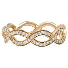 Tiffany & Co. .55CTW Diamond & 14K Rose Gold Eternity Band Ring